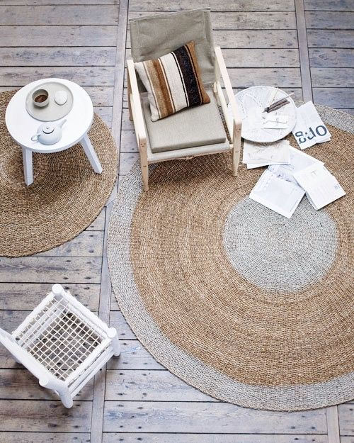 elvs: natural... gorgeous round rug...