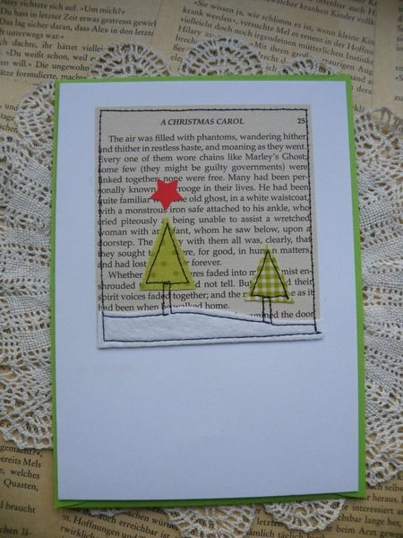Weihnachtskarten - Eine Weihnachtsgeschichte - Klappkarte - ein Designerstück von das-war-mal---- bei DaWanda