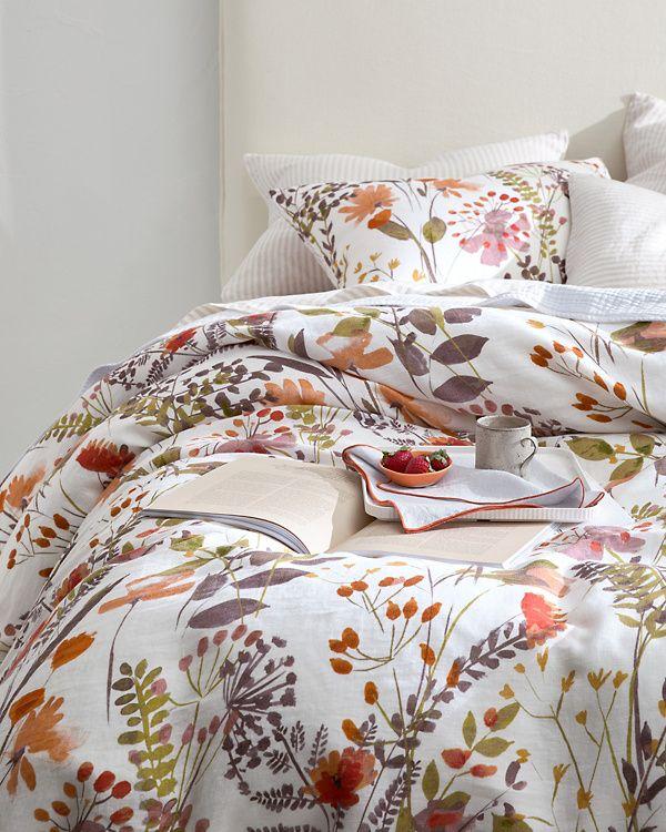 Wildflower Linen Duvet Cover Sham And Pillow Cover Garnet Hill Linen Duvet Covers Duvet Covers Duvet
