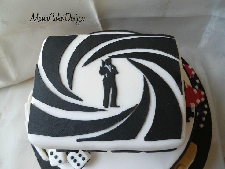 James Bond Cake Pops