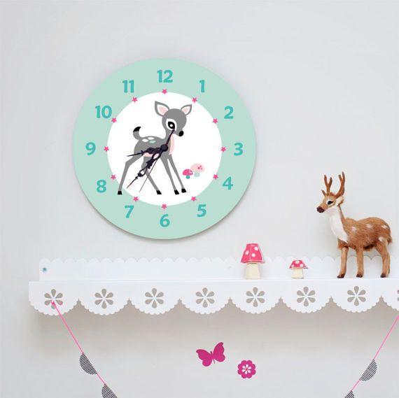 Kids Wall Clock - Nursery Clock - Nursery Wall Clock - Childrens Wall Clock - Kids Clock - Childrens Clock - Boys Clock - Girls Clock