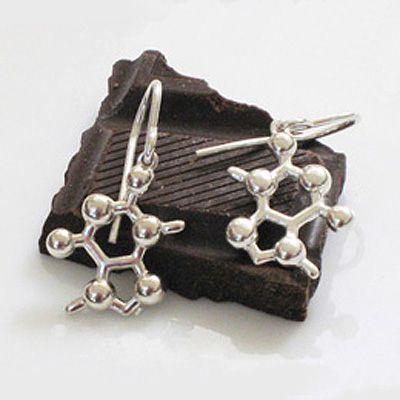 Theobromine (Chocolate) Molecular Jewellery - Earrings