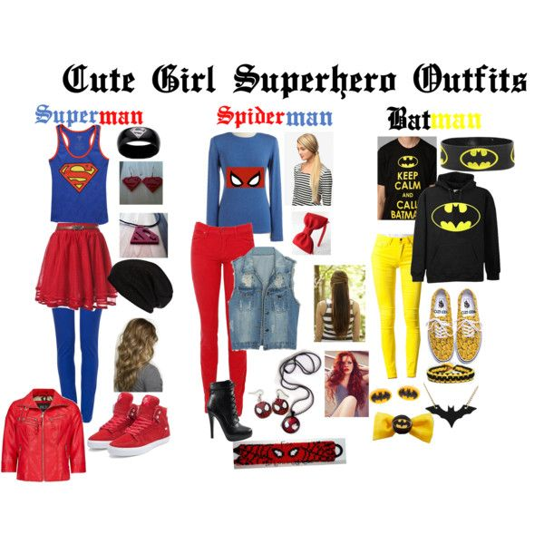 """""""Cute Girl Superheroes Outfit"""" by its-gotta-be-one-direction on Polyvore"""