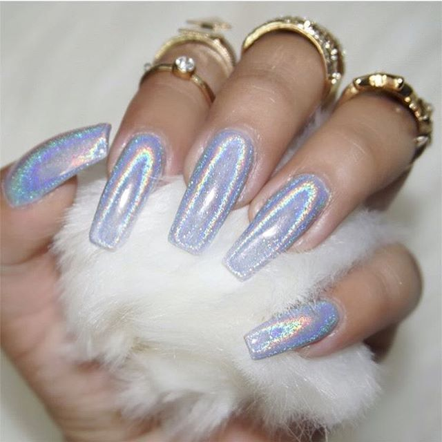 Top 25+ Best Holographic Nails Ideas On Pinterest
