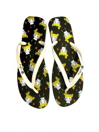 Alice in Wonderland flip flops by Alice Disse