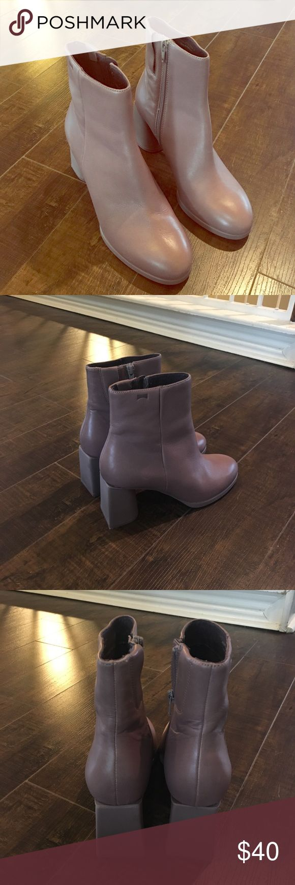 Camper boots NWOT size 39 mauve color Never worn! High quality leather! Camper Shoes Combat & Moto Boots