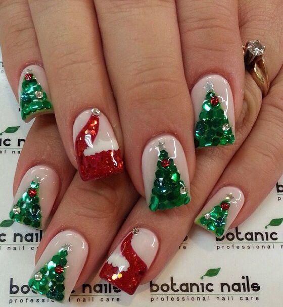 Cute Christmas Acrylic Nail Designs: Instagram Photo If Acrylic Nails By Botanicnails