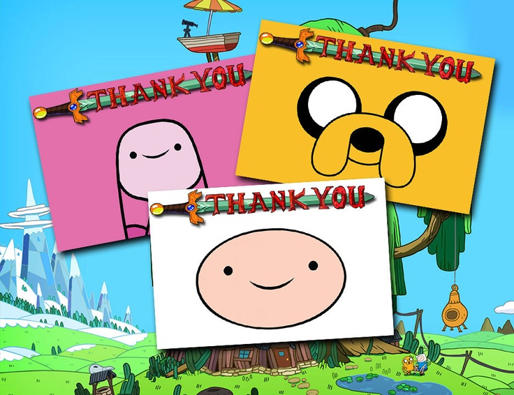Adventure Time Birthday Party Thank You Bundle 3