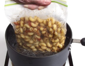 How to reheat pasta.