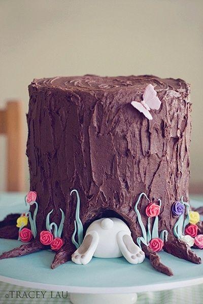 Chocolate Bunny Cake....too cute