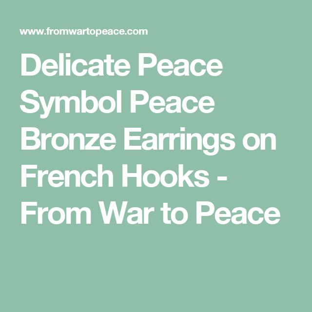 Delicate Peace Symbol Peace Bronze Earrings on French Hooks - From War to Peace
