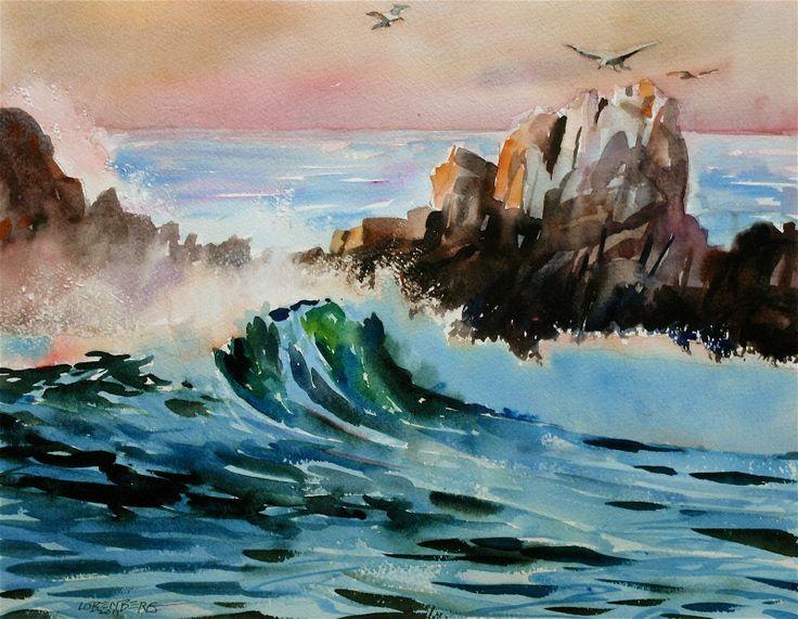 Watercolor Paintings water | David Lobenberg: Acrylic painting versus watercolor painting
