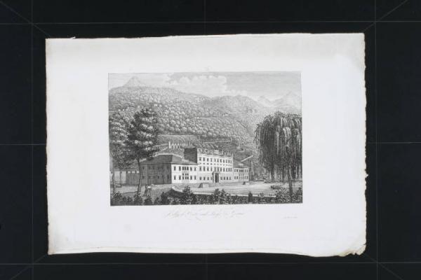 Villa d'Este, veduta. Stampa di Saverio Corsi, post 1840, ante 1845