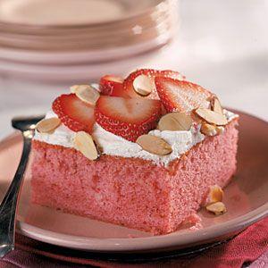 Fresh Strawberry Cake   MyRecipes.comStrawberry Cakes, Southern Recipe, Cake Mixed, Easter Cake, Strawberries Cupcakes, Fresh Strawberries Cake, Cake Desserts, Sheet Cake, Cake Recipes
