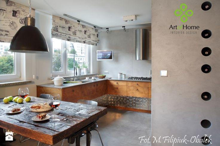 kuchnia drewno/beton - Kuchnia, styl industrialny - zdjęcie od Art of Home