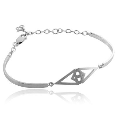 ORUS BRACELET IN STERLING SILVER. Metal: Satin polished 925 sterling silver with white rhodium plating.