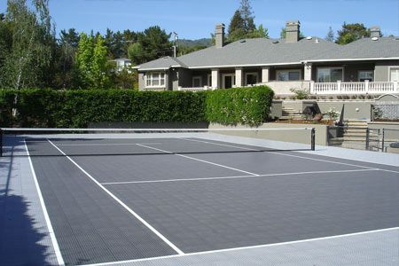 Cool Home Tennis Court by the leader SnapSports #snapsports #tennis #basketball #diy
