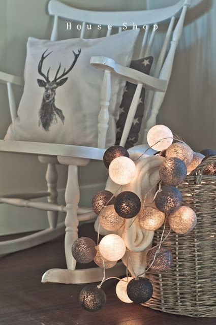 Deer pillows Cotton ball lights: