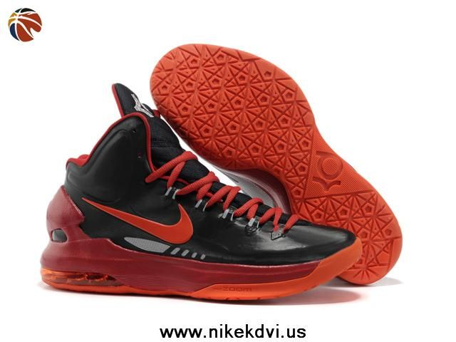 Latest Listing Discount Nike Zoom KD V 5 Black Red Basketball Shoes Shoes  Store