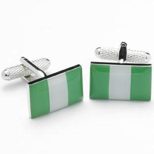 Nigeria Flag Novelty Cufflinks