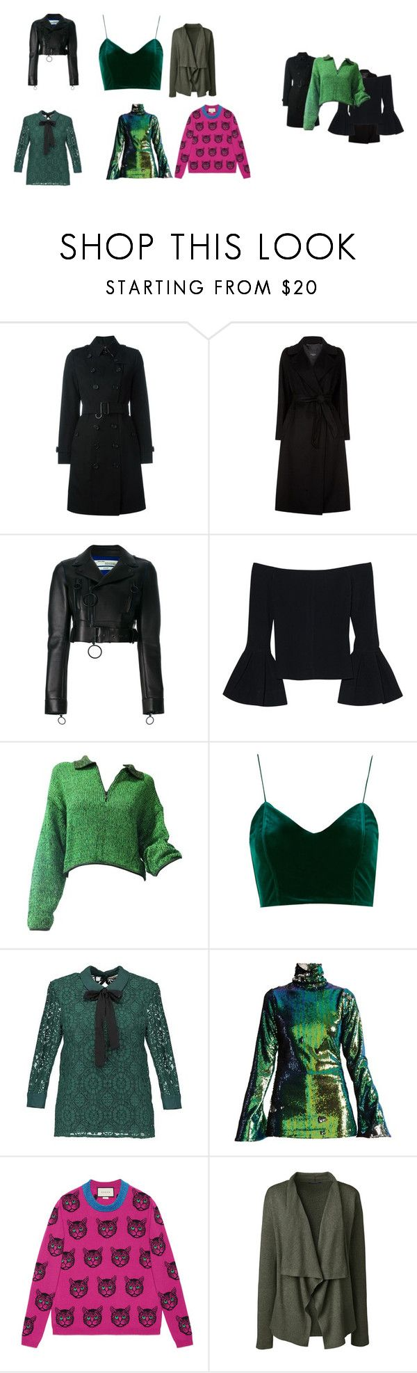 """""""Drizella's Top picks for tops."""" by whitneyball on Polyvore featuring Burberry, Weekend Max Mara, Off-White, Alexis, Jean-Paul Gaultier, Halpern, Gucci and Lands' End"""
