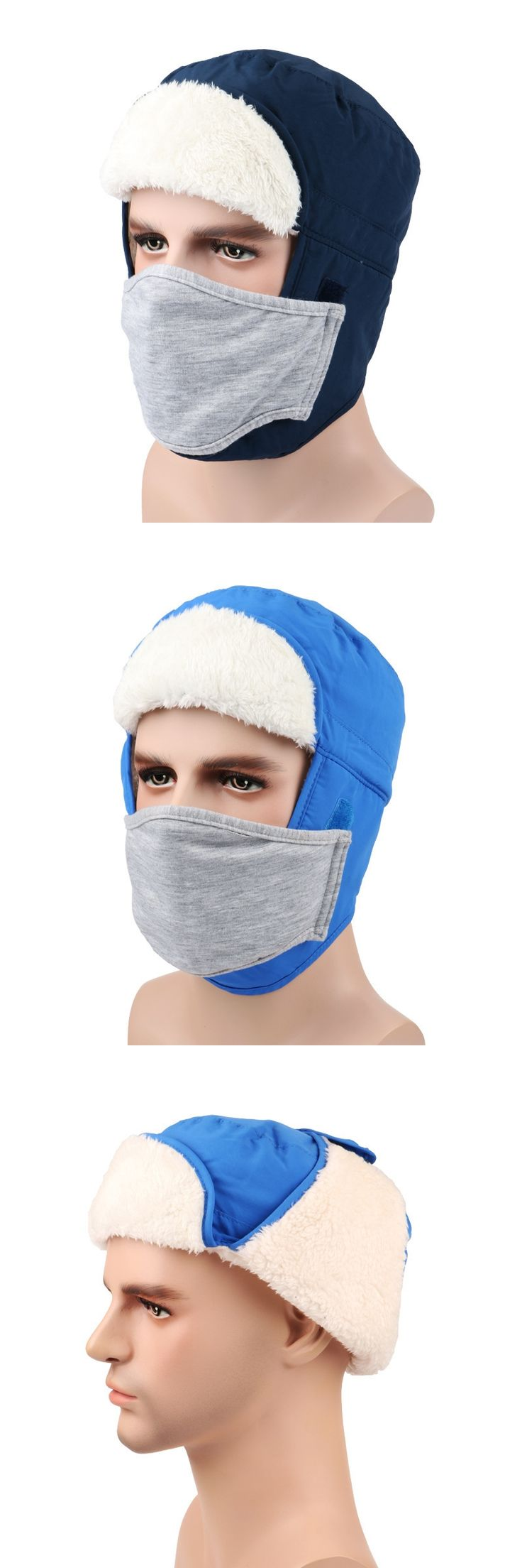 2017 Thickened New Practical Winter Cap Outdoor Face Mask Warm Hat Russian Sport Ski Hats for women balaclava caps christmas