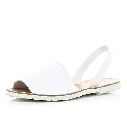 White sling back sandals £30.00