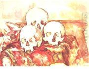 Three Skulls  by Paul Cezanne