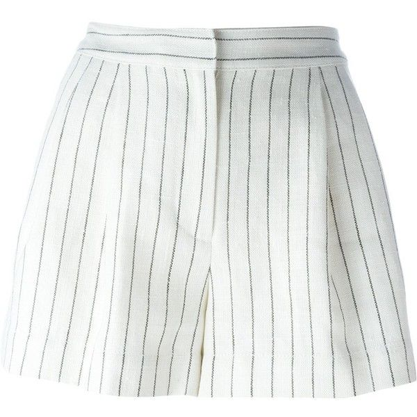 3.1 Phillip Lim Striped Shorts (7.185 UYU) ❤ liked on Polyvore featuring shorts, bottoms, short, skirts, white, linen shorts, stripe shorts, short shorts, 3.1 phillip lim and striped shorts