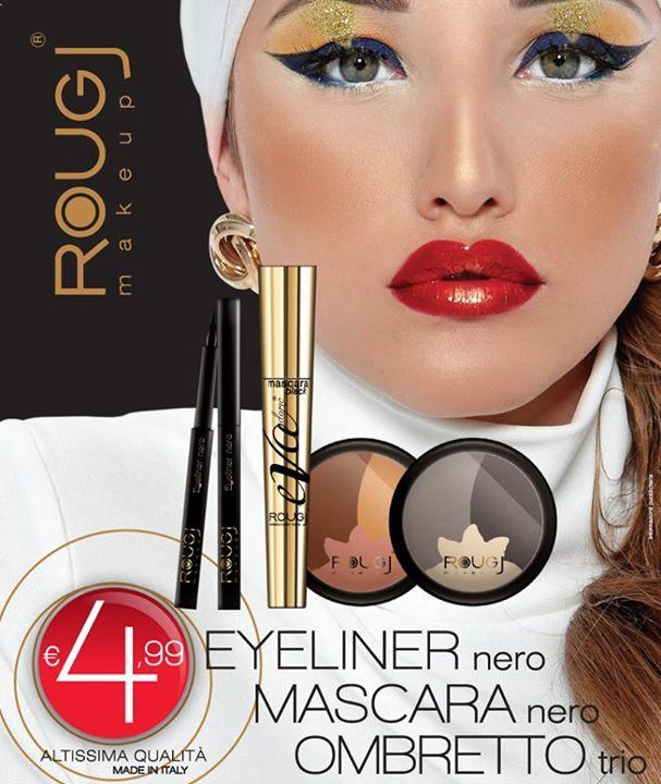 Christmas Make-Up Eye-liner Black Mascara Trio Eye shadows in two colors