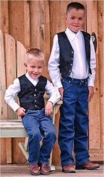 Ring bearer..cute little country ring bearer. now just put a suit, cowboy boots and hat!
