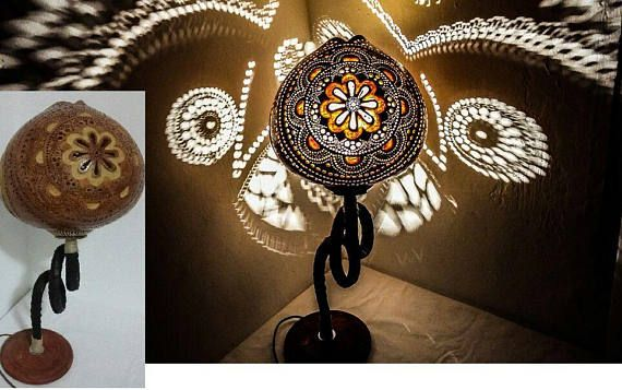 HANDMADE Mother's Day Gourd lamp Osmanisch Türkisch antique floor lamps wedding anniverary graduation gift idea boho furniture lampadaire