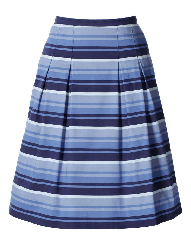 Rock mit Streifen in der Farbe marine / weiß - navy, navyblau - weiß, blau - im MADELEINE Mode Onlineshop
