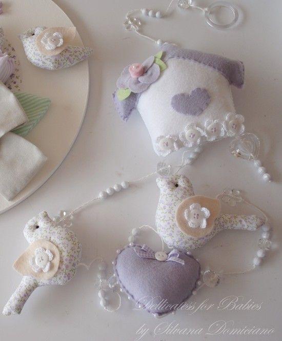 Pingente de cortina passarinho - Dellicatess for Babies