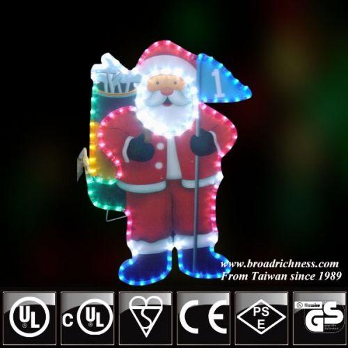 19 best motif lights images on pinterest cords rope lighting and 2d led rope light golf santarope light golf santachristmas light incandescent aloadofball Images