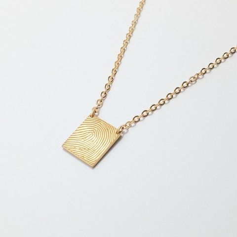 36 best fingerprint jewelry images on pinterest fingerprint square fingerprint necklace custom dainty square necklace with engraved fingerprint anniversaryengagement gift solutioingenieria Choice Image