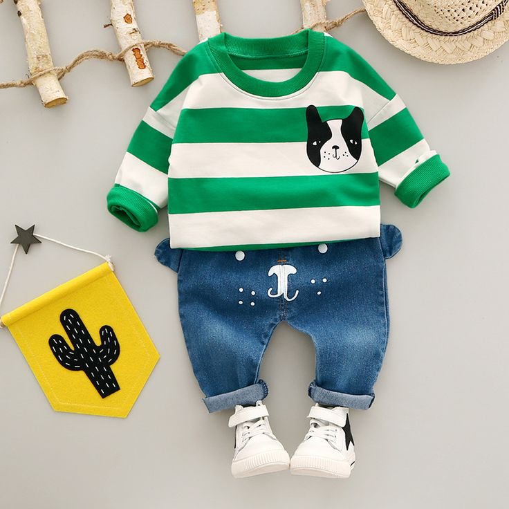 The new children's clothing private baby long sleeve children suit two-piece outfit #Affiliate