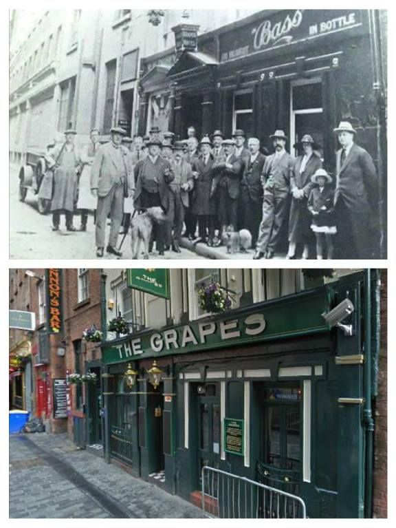 The Grapes, Mathew Street, 1920s and Now.