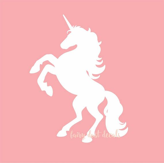 Unicorn Wall Decal, horse sticker, vinyl wall decals, teen bedroom decals, white unicorn, unicorn sticker, horse wall decal, nursery decals