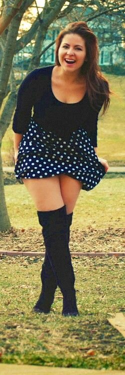 Like the outfit, but I would rather wear slouchy knee high socks