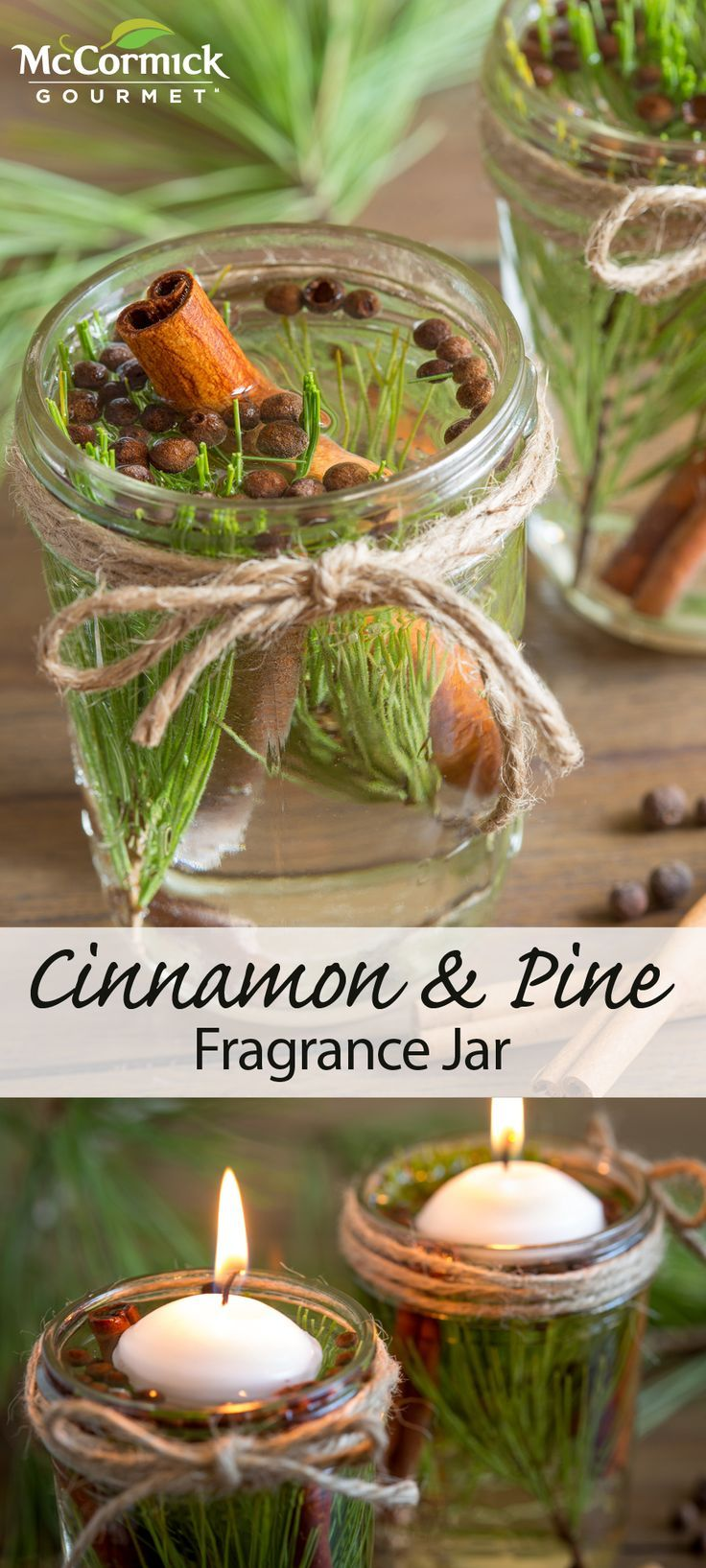 cinnamon and pine fragrance jar recipe potpourri centerpieces and cozy. Black Bedroom Furniture Sets. Home Design Ideas