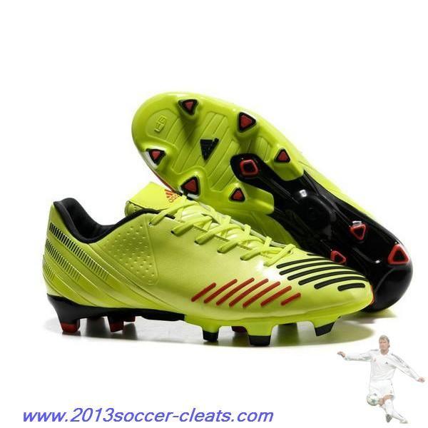 Authentic adidas Predator LZ TRX FG SL Shoes Green Black Red Football Boots