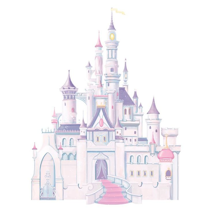 Disney Princess - Princess Castle Peel and Stick Giant Wall Decal - RMK1546GM