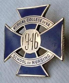 Medical College of Virginia School of Nursing Graduation Pin 1946