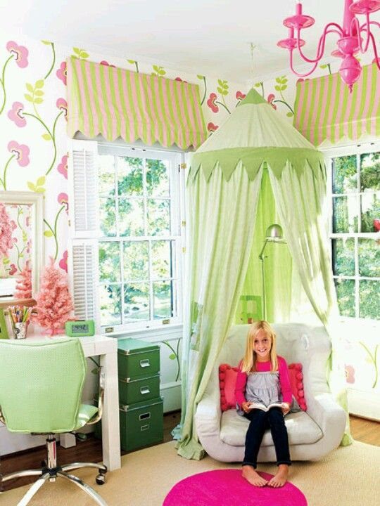 Girl's room, reading chair w/princess dome!