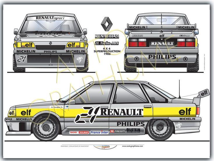 Renault R21 Turbo 4x4 Production 1988
