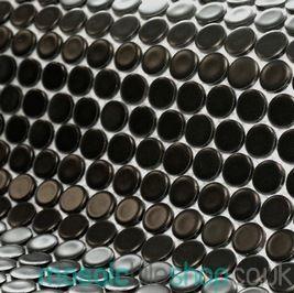 Matt Black Mosaic Tiles