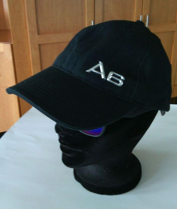 Genuine A6 Audi Black Baseball Cap Racing Hat Chrome Metal Size Adjustable Autos | eBay
