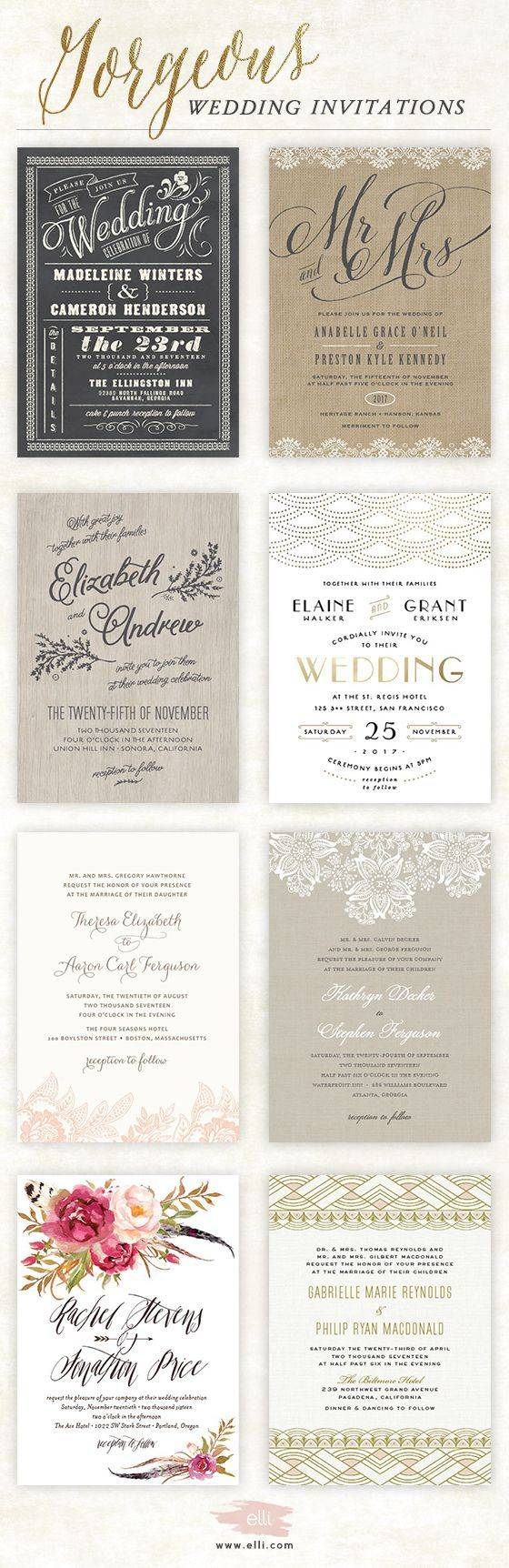 Best 25 classy wedding invitations ideas on pinterest metallic find hundreds of gorgeous customizable wedding invitations for your big day stopboris Images