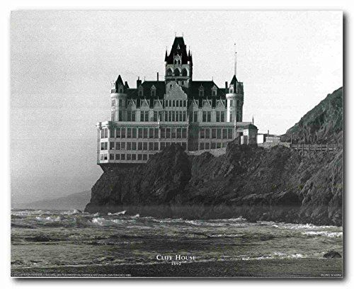 The cliff house is a restaurant perched on the headland above the cliffs just north of Ocean Beach, on the western side of San Francisco, California. It Overlook the site of the former Sutro baths and is now part of the Golden Gate National Recreation Area, operated by the National Park service. On the terrace of the Cliff House is a room-sized camera Obscura .Cliff House has had five major incarnations since its beginnings in 1858.